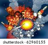 Space Explosions - stock photo