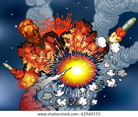 Space Explosions - stock vector