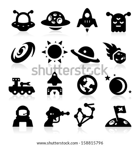 Space Icons two - stock vector