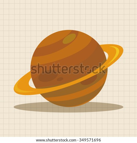 Space planet theme elements - stock vector