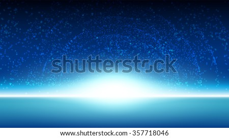 Space sky background galaxy illustration vector design - stock vector