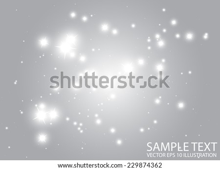 Space starful decorative vector template - Shiny glitter stars space design background  illustration - stock vector