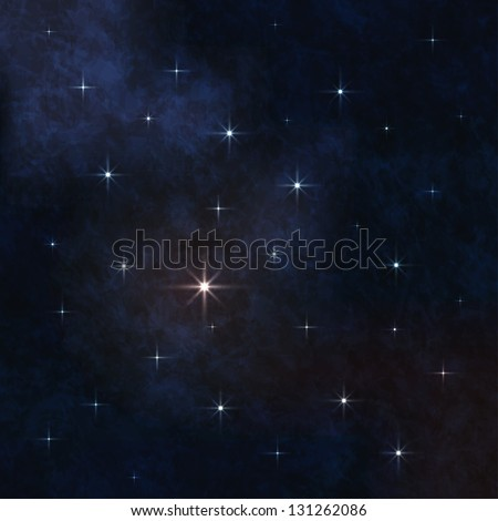 Space stars background - stock vector