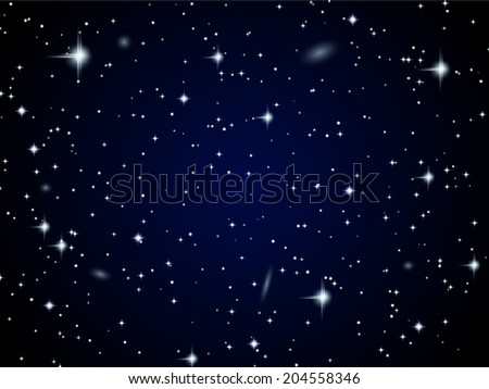 Space vector background. Starfield with nebula and galaxies. - stock vector