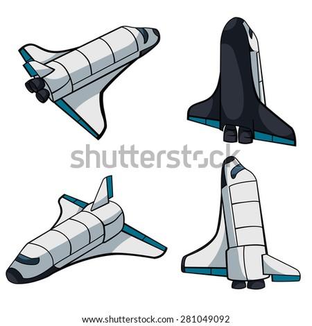 spaceship vector art illustration stock vector 281049092 shutterstock rh shutterstock com vector spaceship spaceship vector free download