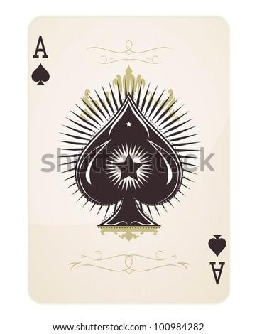 Spade Ace - stock vector