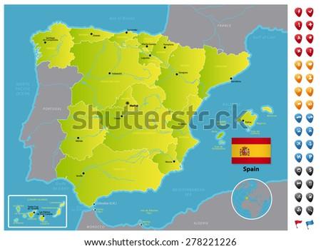 Spain - stock vector