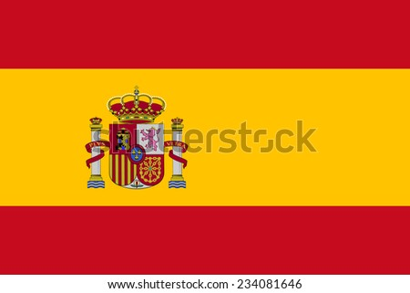 Spain flag vector - stock vector