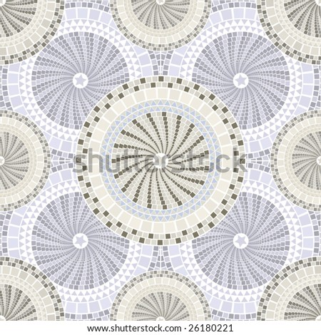 Spain mosaic pattern seamless tileable - stock vector