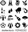 Spain pictograms - stock photo