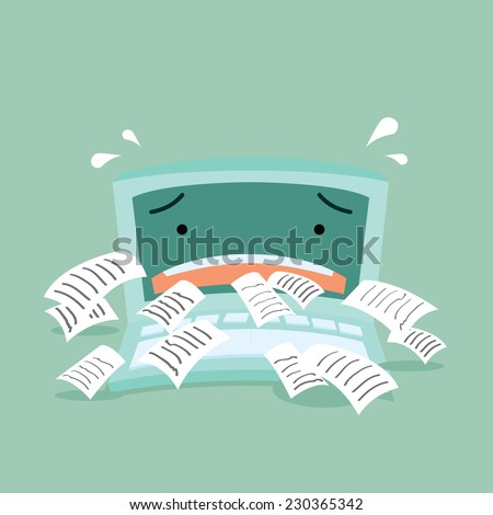 Spam Email on Internet Illustration - stock vector