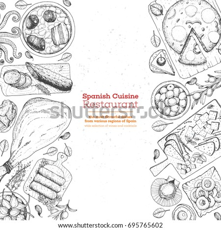 Spanish tapas stock images royalty free images vectors for Tapas menu template