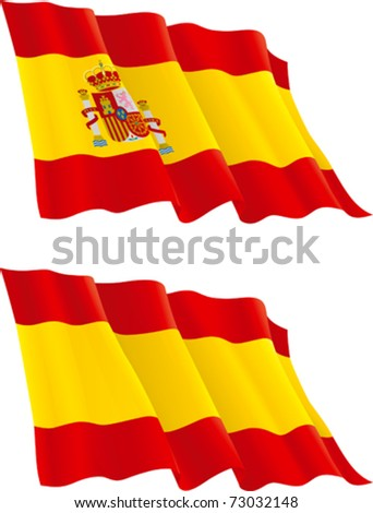 Spanish flag. Vector Flag of Spain isolated