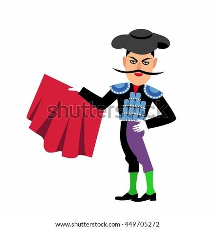 spanish matador cartoon clipart stock vector 2018 449705272 rh shutterstock com