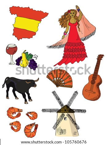 Spanish Symbols - stock vector