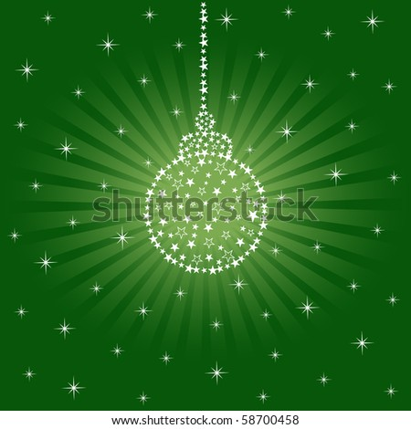 Sparkling Christmas Ornament - stock vector