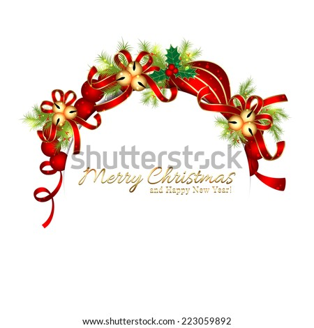 Sparkling Christmas Star Snowflake Greeting Card - stock vector