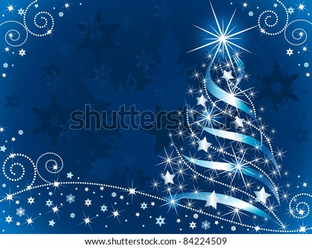 Sparkling Christmas Tree - stock vector