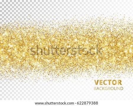 Sparkling Glitter Border Isolated On Transparent Stock ...