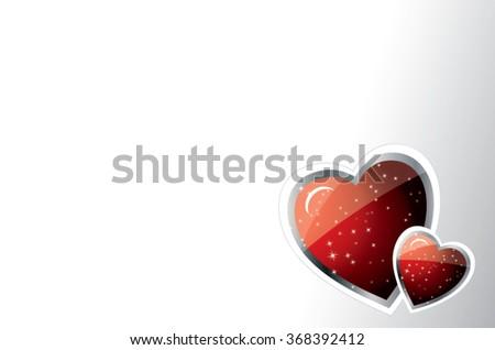 sparkling heart - stock vector