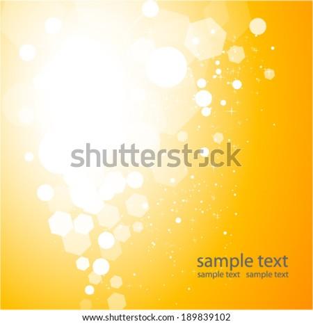 sparkling  orange background, - stock vector
