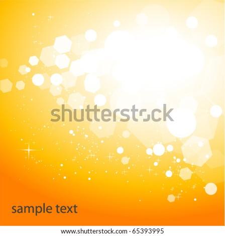 sparkling orange background - stock vector