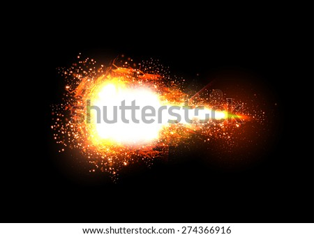 Sparkling stars light effect, easy editable - stock vector