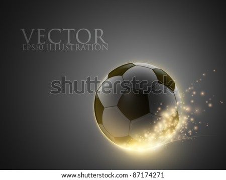 sparkling vector ball - stock vector