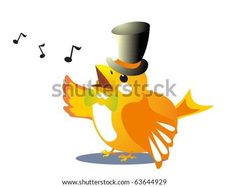 sparrow song - stock vector