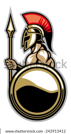 spartan courage soldier - stock vector