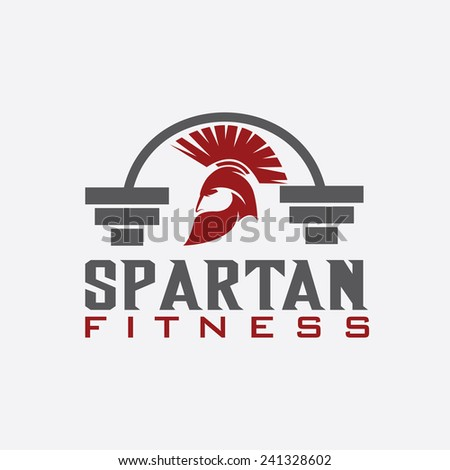 spartan fitness vector design template - stock vector