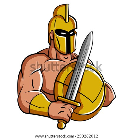 Spartan Mascot - stock vector
