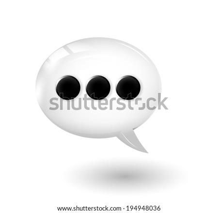 Speach bubble. Vector eps 10 - stock vector