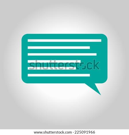 Speach bubbles flat design icon  - stock vector