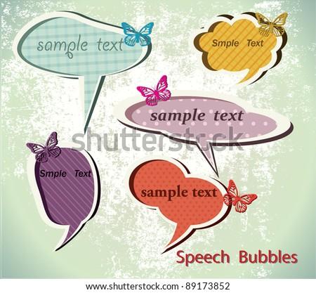 Speach bubbles. Vector - stock vector