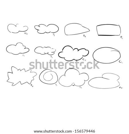 speach cloud  - stock vector