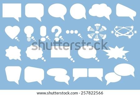 Speak bubbles icons set vector  - stock vector