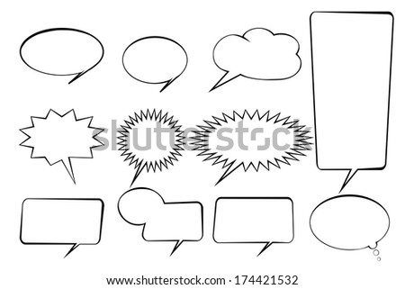 speak bubbles set icon - stock vector