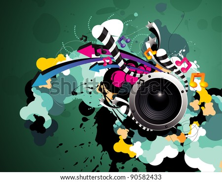 speaker color vector design