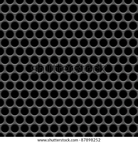 Speaker grille - stock vector