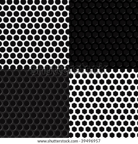 Speaker grilles. Simple vector (no gradient mesh elements), pattern brushes included in EPS file. - stock vector