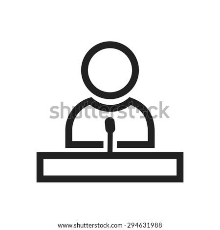 guest speakers clipart. speaker, guest, lecture, speech icon vector image. can also be used for guest speakers clipart