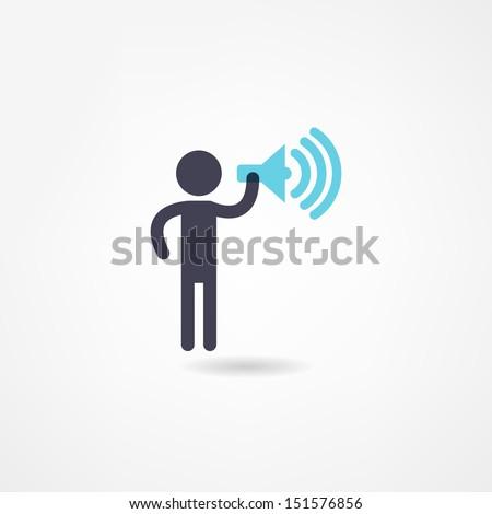 speaker icon - stock vector