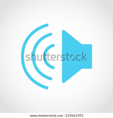 Speaker Icon Isolated on White Background - stock vector