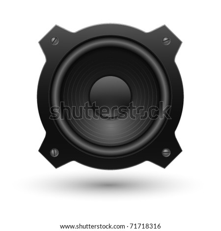 Speaker icon. Vector illustration. - stock vector