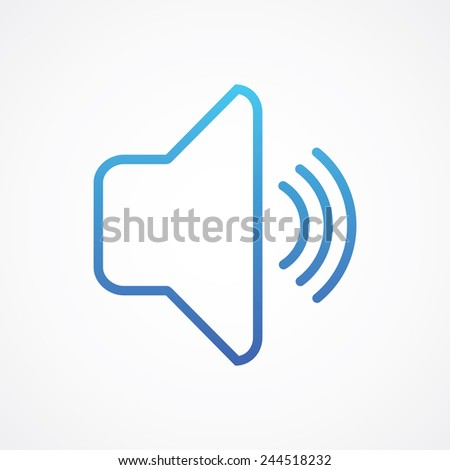 Speaker loud volume icon. Simple flat style vector illustration - stock vector