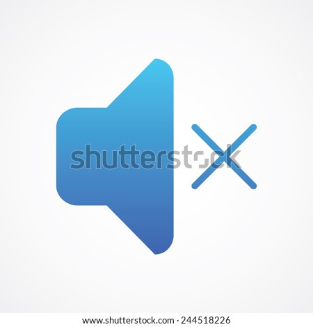 Speaker mute icon. Simple flat style vector illustration - stock vector