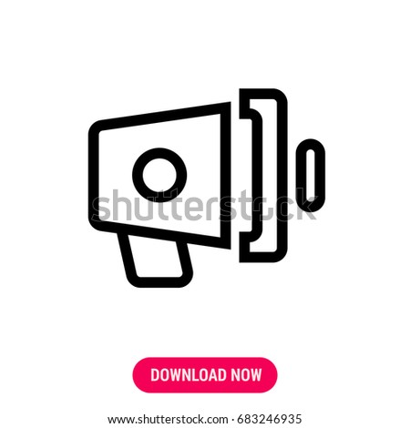 Speaker Vector Icon Outlined Symbol Loud Stock Vector 683246935