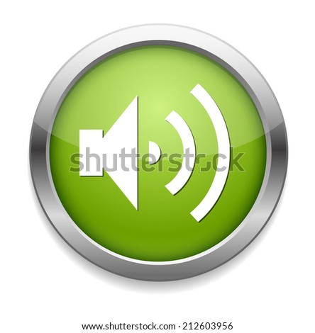 Speaker Volume icon - stock vector