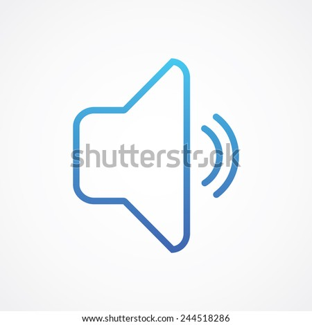 Speaker volume icon. Simple flat style vector illustration - stock vector